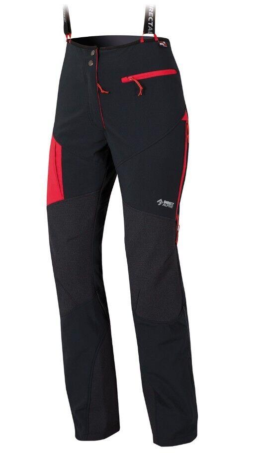 Direct Alpine Couloir Plus Lady Pant Pant Pant Tourenhose für Damen schwarz-rot 6ce7f5