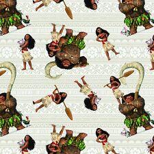 Disney Moana 59624 Moana & Friends 100% Cotton fabric by the yard (In Stock)