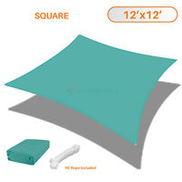 Sun Shade Depot Turquoise Terylene Waterproof Square Patio Cover Sail 12x12