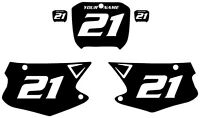 2000-2001 Honda Cr250 Custom Pre-printed Black Backgrounds White Numbers