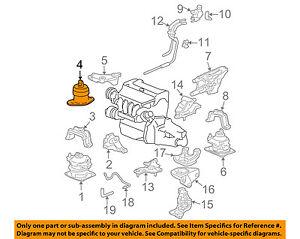 honda oem 03 07 accord engine motor mount torque strut 50820sdaa01 rh ebay com