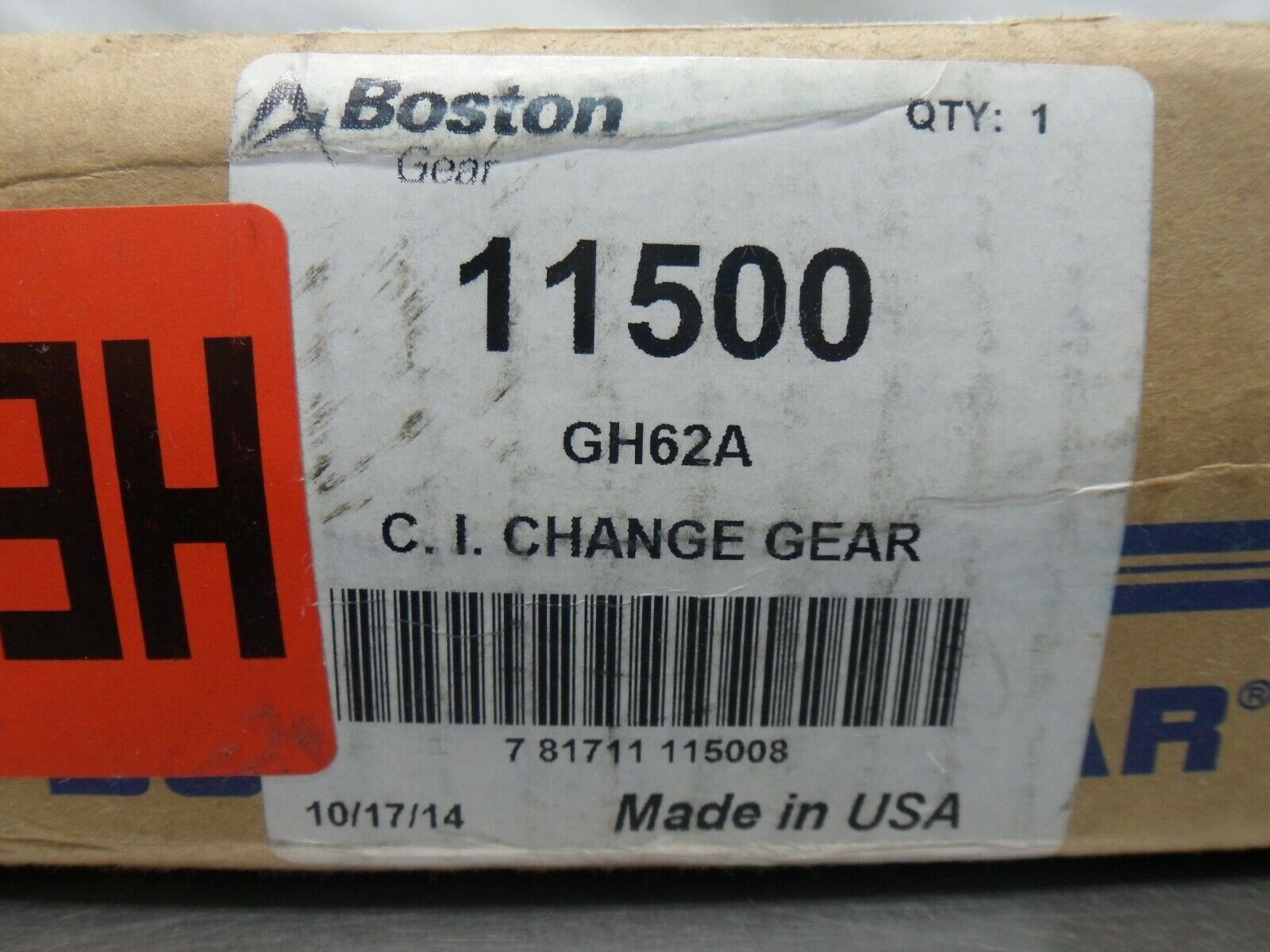 8 Pitch Boston Gear GH60A Web with Lightening Holes Change Gear 60 Teeth 1.375 Bore Cast Iron 14.5 Degree Pressure Angle
