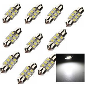 10x-C5W-31MM-6-LED-3528-1210-SMD-Xenon-Dome-Feston-Plaque-Lampe-navette