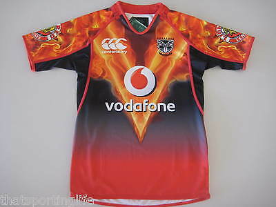 NEW ZEALAND WARRIORS 2013 INFERNO TRAINING JERSEY MENS NEW BY CCC CANTERBURY