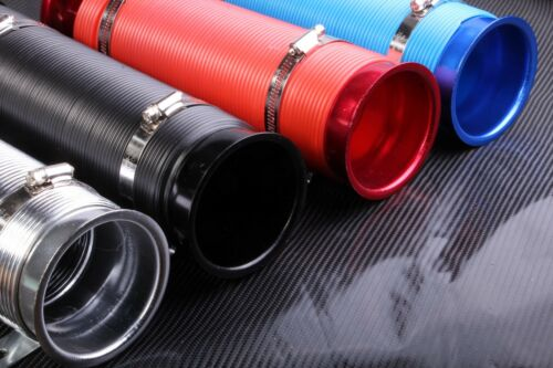 """3/"""" Air Intake Hose Flexible Pipe Filter Cold Feed Duct Induction Kit Red 75mm"""