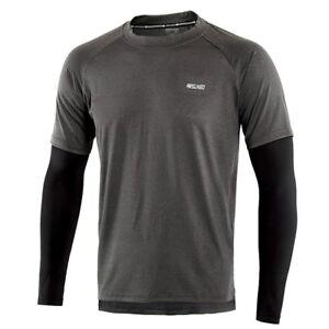 Men-039-s-Sport-Quick-Dry-Fit-Running-Shirt-Long-Sleeve-Elastic-Fitness-Gym-Shirt