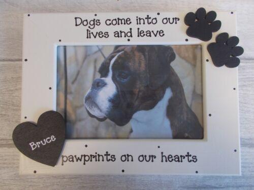 Personalizado Perro Mascota pérdida de memoria foto marco regalo cualquier redacción 6x4 5x7 8x6 10x8