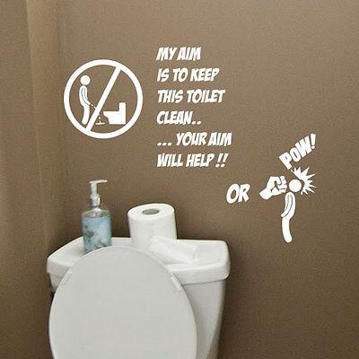 Toilet Bathroom Funny Wall E, Funny Bathroom Decals