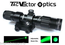 Vector Optics Green Laser Designator Hunting Flashlight w/ Mount Night Vision