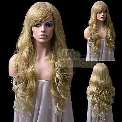 Long Curly 2 Tone blonde Fashion Hair Wig
