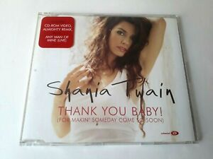 Shania-Twain-Thank-You-Baby-CD-Single-Enhanced-2003-Made-in-UK-Brand-New