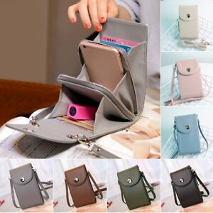 4071dc325652 Details about Women PU Leather Mini Mobile Phone Bag Case Pouch Cross Body  Purse Shoulder Bag