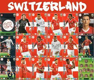 Panini-Adrenalyn-Xl-Uefa-Euro-2020-Set-completo-de-equipo-de-tarjetas-18-Suiza-EUROS