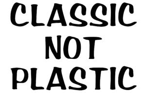 classic not plastic truck sticker vinyl funny car decal