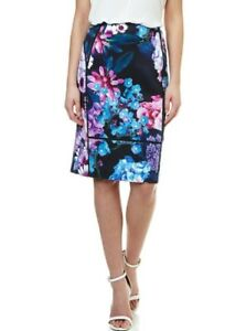 taille Papell longueur Designer 10 haute marque florale taille New genou Adrianna jupe xROwwE5