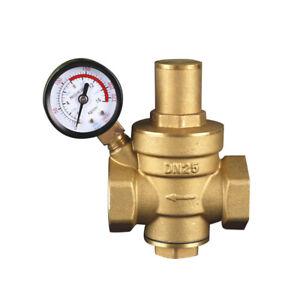Wasser Reduzierventil Manometer Druckventil Messing Druckminderer DN15 DN20 S4