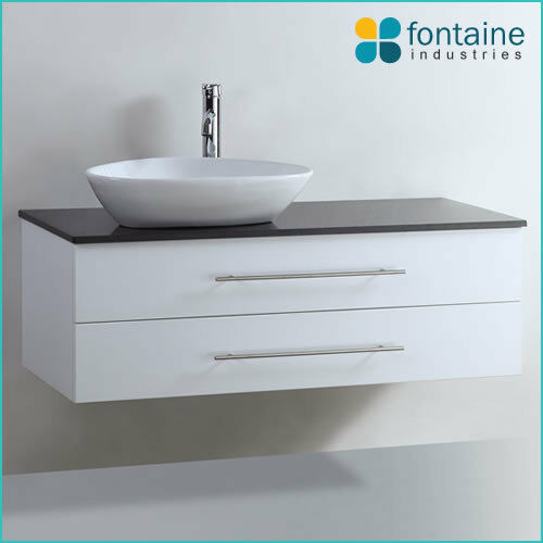 Bathroom Vanity White Wall Hung Ceramic Basin Stone Top 1200 NEW Modern Beauty!