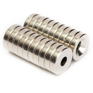 AA-20stk-12x3mm-N50-4mm-Hole-Scheibe-Stark-Block-Seltenerd-Neodym-Magnet-Gut