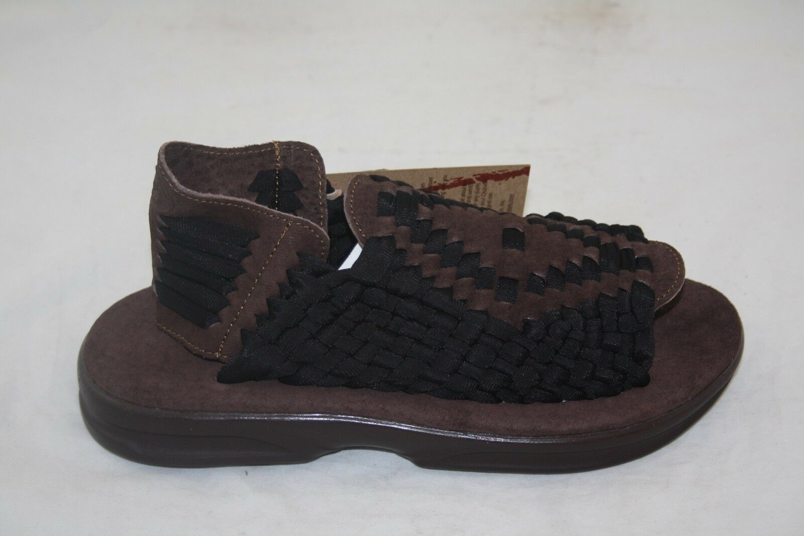 MEN'S CHUBASCO HAND MADE IN MEXICO CH-AZTEC BLACK TABACCO SANDAL MSRP  90.00