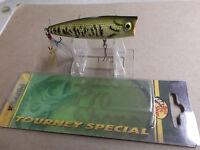 Custom Painted Bass Pro Shops Tourney Special Pop N Splash Popper,baby Bass