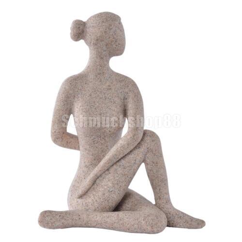 Einfache Sandsteinfigur Statue Handgefertigte abstrakte Figur Home Decor B