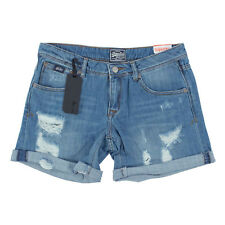 SUPERDRY Damen Shorts G71MY01F1 Boyfriend Short Terry Blue