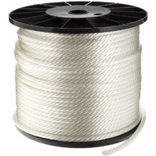 CWC Solid Braid Nylon Rope  - 1 4  x 1000 ft., White  fashionable