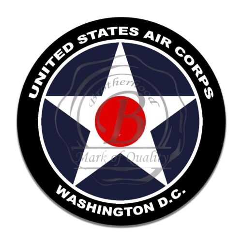 US Army Air Corps Washington DC White Star Reproduction Round Aluminum Sign
