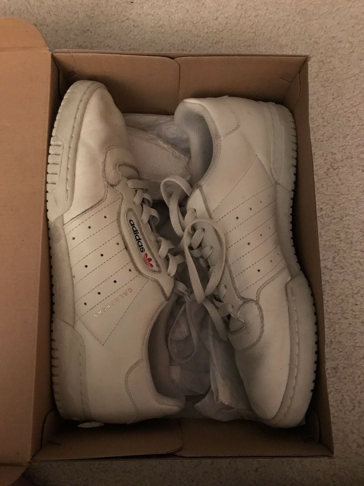 Adidas Yeezy Powerphase Calabasas White Mens Size 11 Used
