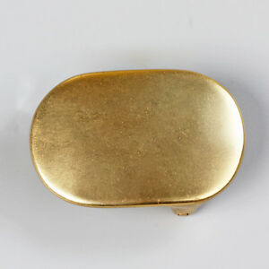 WUTA Vintage Solid Brass Oval Belt Buckle Plained Men Buckle Heavy Duty