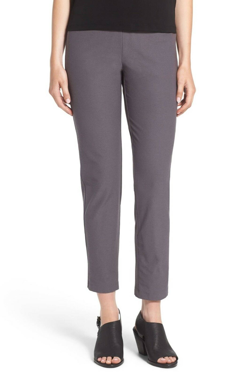 NEW EILEEN FISHER ASH WASHABLE STRETCH CREPE SLIM ANKLE PANT XL  168
