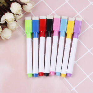 10PCS-8-Color-Magnet-Pens-Magnetic-Dry-Wipe-White-Board-Markers-Built-In-Era-NT