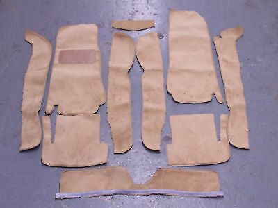 Fiat 124 Spider 68 82 Biscuit Tan Cut Pile Carpet Kit With 20 Ounce Padding Ebay