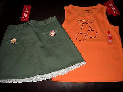 Gymboree Right Meow orange tunic top /& leopard print leggings NWT 5