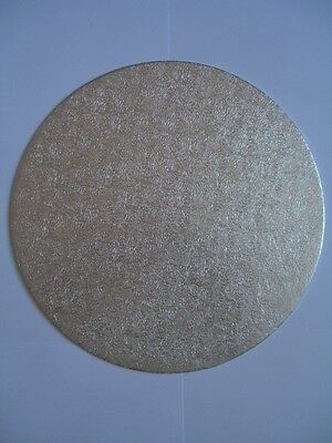 Large Range of CAKE BOARDS & CAKE DRUMS - Round/Square - Thick/Thin (SILVER)