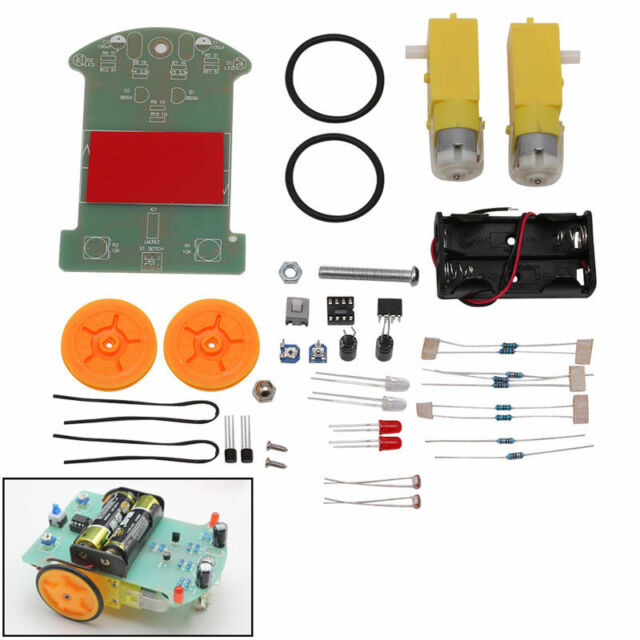 Hot DIY Kit Intelligent D2-1 Patrol Tracking Smart Car Parts Electronic Suite