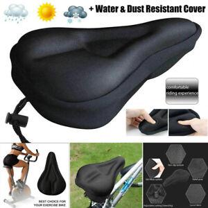 Gel Cushion Bike Bicycle Seat Saddle Cover Padding Soft Gym Sores Extra Comfort