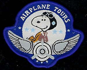 SNOOPY-AIRPLANE-TOURS-FAA-PATCH-AIR-PLANE-AVIATION-PIN-UP-AIRLINE-PILOT-CREW-WOW