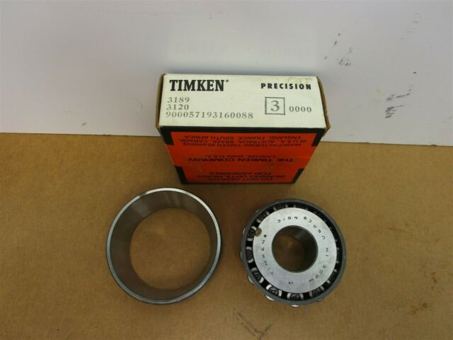 Timken 3120 and 3193 Bearing Set Cup /& Cone Tapered Roller New Old Stock