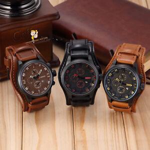 Vogue Luxury Curren Men's Date Stainless Steel Leather Analog Quartz Sport Watch