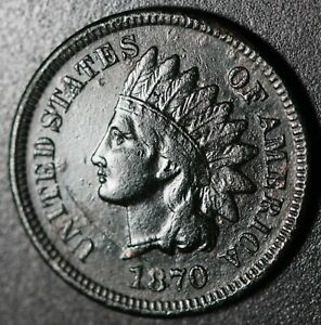 1870-INDIAN-HEAD-CENT-With-LIBERTY-VF-VERY-FINE