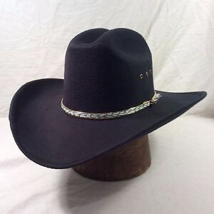 40e0253f858 Image is loading Black-Western-Express-Vintage-Hat-with-Gold-Band-