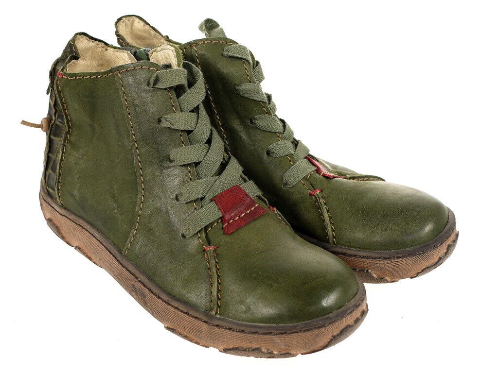 Rovers Schuhe Stiefelette Musterschuh 58014 Original Gr.37 Neu grün