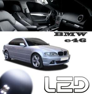 PACK-LED-interieur-Plafonnier-7-Ampoules-Blanc-Pour-BMW-E46-316-318-320-325-330