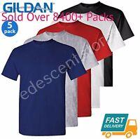 5 Pack Plain Blank Gildan 100% Heavy Cotton T-shirt Tshirt Multi Colors Lot