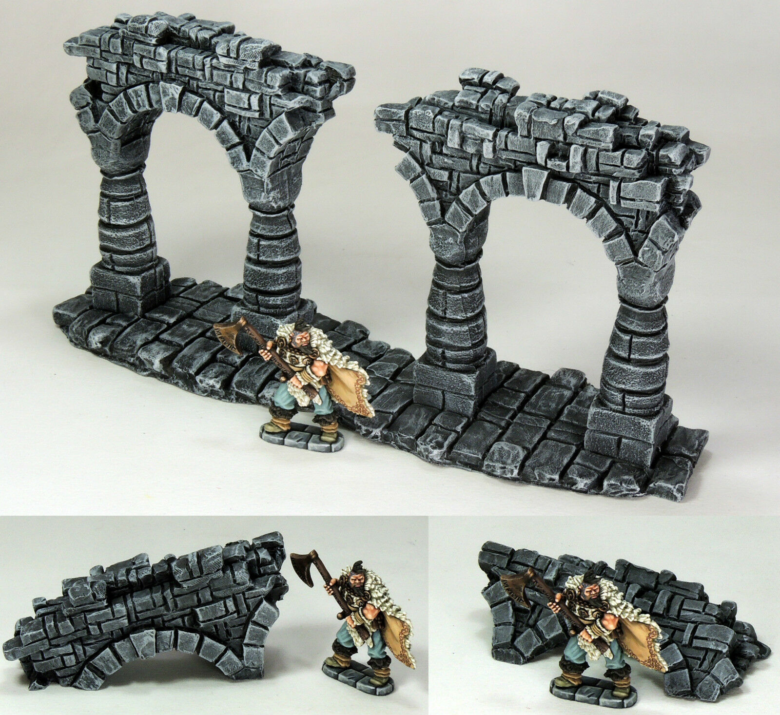 'RUINED & FALLEN ARCHES' - FANTASY TERRAIN - PAINTED TO COLLECTOR'S STANDARD