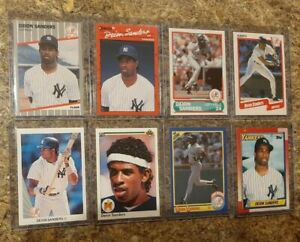 (8) Deion Sanders 1989 Fleer 1990 Leaf Upper Donruss Score Topps Rookie card lot