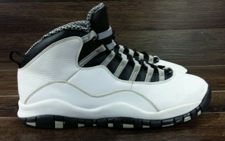 2013 Nike Air Jordan X 10 Retro STEEL Grey White 310805-103 Size 11.5