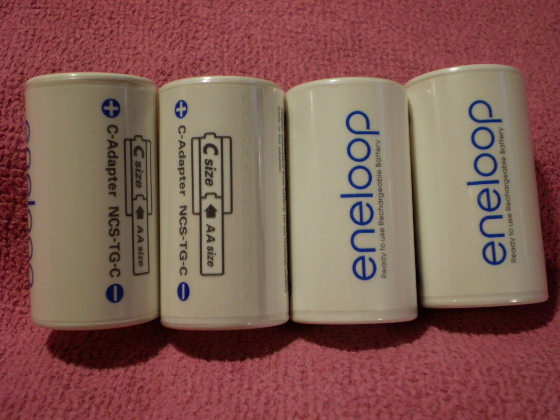 SANYO Enelooop adapter SPACER from AA to C size New NCS-TG-C FAST USA SHIP