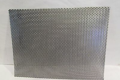 """20 GA 304 STAINLESS STEEL PERFORATED SHEET 1//8/""""HOLES   12/"""" X 23/"""""""